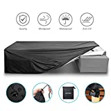 NASUM Patio Furniture Cover Set, 315x160x74cm Outdoor Lounge for Sofa Dining Table and Electrical Equipment With Waterproof and UV-Resistent 210OD Oxford Cloth(Black and Silver) black xl