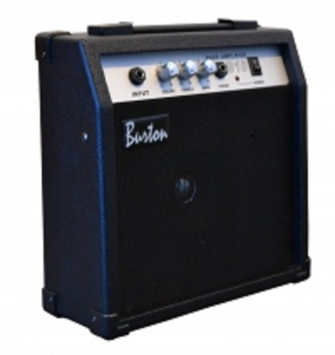 Black 10W Bass (Base) Guitar Amplifier Combo Practice Amp 10W with Free Lessons & DirectlyCheap(TM) Translucent Blue Medium Pick