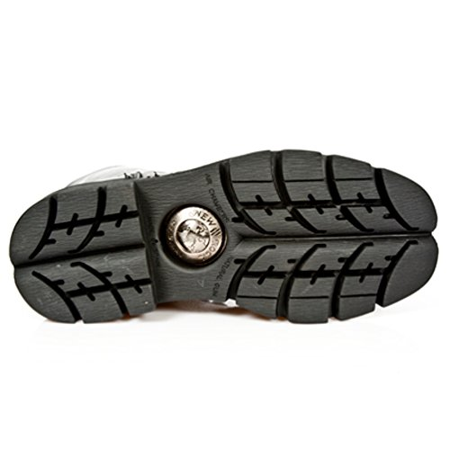 NEWROCK New Rock Stiefel Style M.NEWMILI084 S1 Schwarz Unisex Stahl Zeh