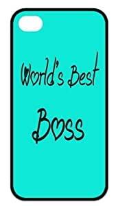 Cool World's Best Boss Back Case Hard Durable iPhone 4,4s Case by heywan