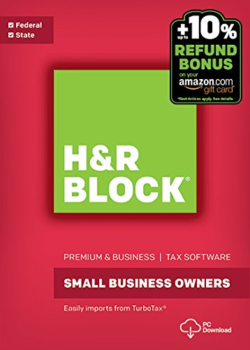 H R Block Tax Software Premium   Business 2016 Win   Refund Bonus Offer  Download   Old Version