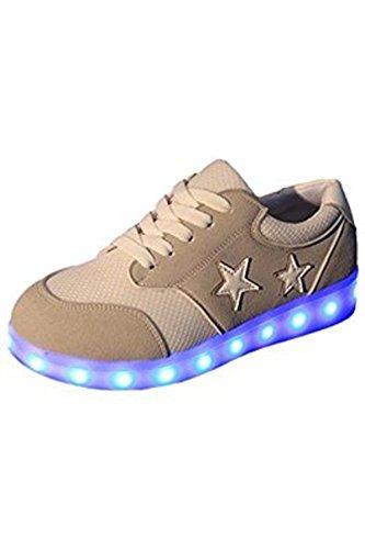 (Presente:pequeña toalla)JUNGLEST Mujer LED Zapatos Deportivos USB Negro