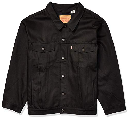 Levi's Men's Big & Tall Trucker Jacket, Polished Black, ()