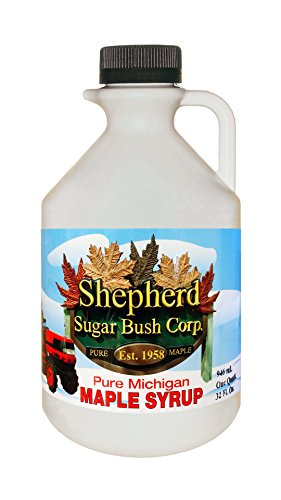 Shepherd Sugar Bush Michigan Maple Syrup Quart (32 oz/946 ml)