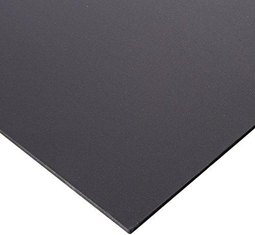 Falken Design PVCF-BK-1-4/4848 PVC Foam Board Sheet 1/4'' (0.236''), 48'' x 48'' - Black, Plastic by Falken Design Corporation