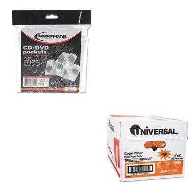 KITIVR39701UNV21200 - Value Kit - Innovera CD/DVD Pockets (IVR39701) and Universal Copy Paper (UNV21200)