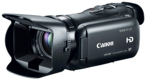 Canon VIXIA HF G20 CR Camcorder with 10x HD Video Lens (30.4mm-304mm), 3.5″ Touchscreen LCD, HD CMOS Pro and 32GB Internal Flash Memory (Certified Refurbished), Compact, Black