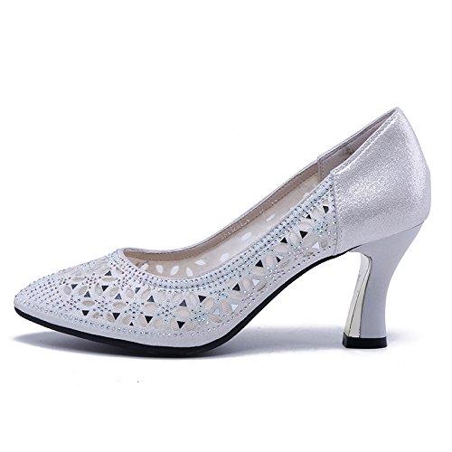 Jqdyl High Heels Frauen Schuhe Heels Ferse Hollow Shallow Tipps Tipps