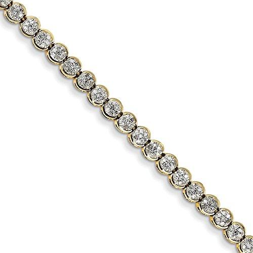 JewelryWeb Bracelet 14 carats-Diamant