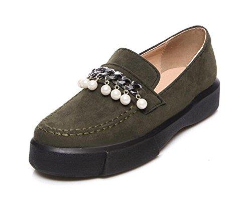 Plataforma a 42 Zapatos mujer de Cuero de Hebilla Fregar de XIE Mocasines 35 perlas Tamaño metal qT6tZW1xZ