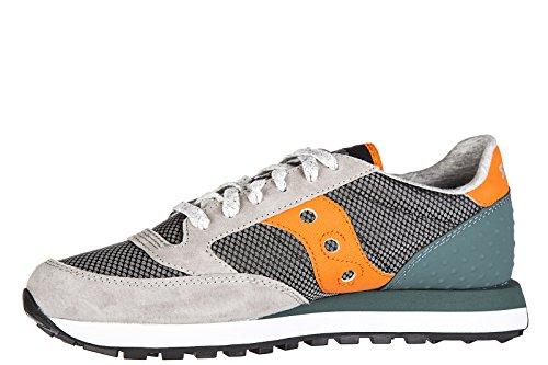 Saucony zapatos zapatillas de deporte hombres en ante nuevo jazz original gris