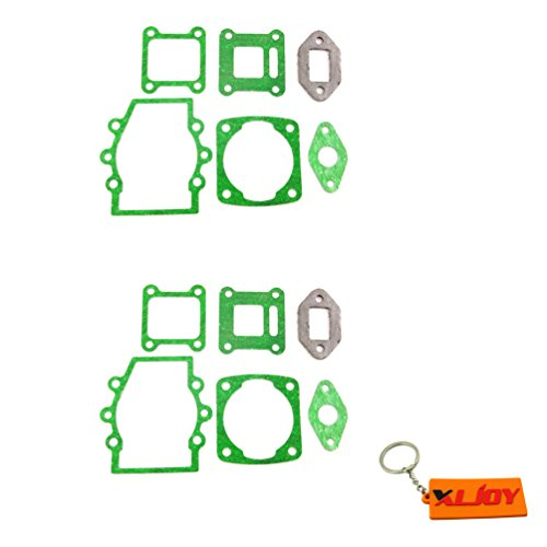 XLJOY 2 Sets 47cc 49cc Engine Carburetor Gasket Kit for Mini Dirt Pocket Bike Kids ATV Quad Moto (Mini Quad Gasket compare prices)