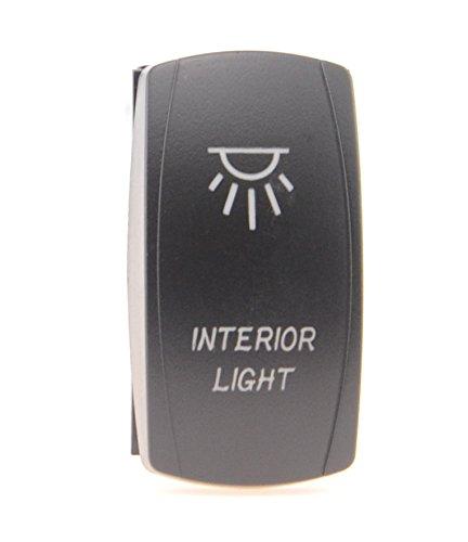 Universal Backlit Rocker Switch Laser Blue Interior Light 20A 12V On/off LED Light__4x 4 Off Road FOR ALL ATV UTV OFF ROAD 4X4 VEHICLES TRUCKS JEEP SUV BOAT RV