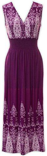 Violet V Livativ Aztec Maxi Printed Dress Dress Dresses Floral Neck ggaPTpnq