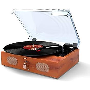 Amazon.com: Ammoon Reproductor de discos de vinilo ...