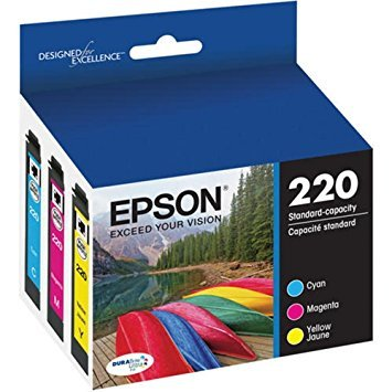 Epson DURABrite Ultra T220 Ink Cartridge Multi-pack - Cyan, Yellow, Magenta Model T220520