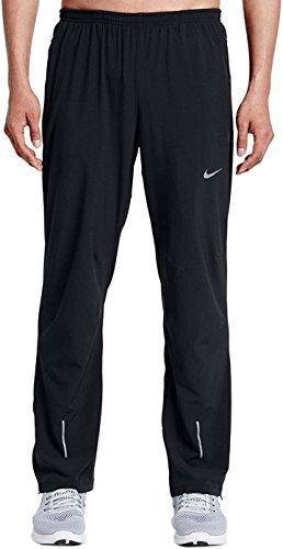 Dri Fit Running Pant - Nike Mens Stretch Woven Black Dri-Fit Training Running Pants Sweatpants (Large)