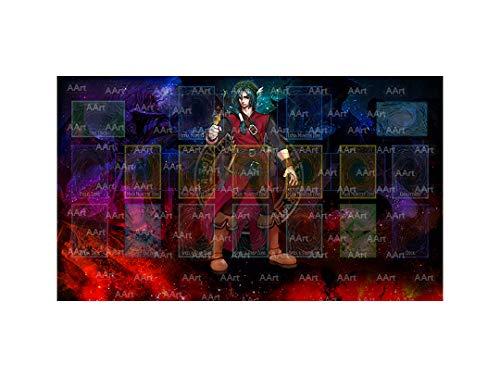 Yo-gi-oh Custom Galaxy Template 2017 Master Rule 4 Link Zone Playmat - Yugioh Galaxy Master Rule 4 Link Zone Playmat TCG Playmat MTG Playmat TCG Play mat Yogioh Playmat v3