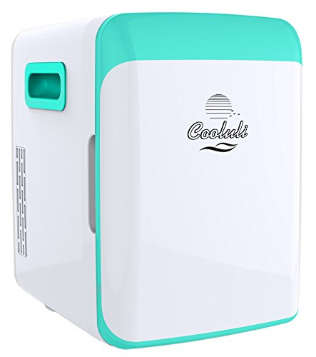 Cooluli Electric Mini Fridge Cooler and Warmer (10 Liter / 12 Can): AC/DC Portable Thermoelectric System (Turquoise)