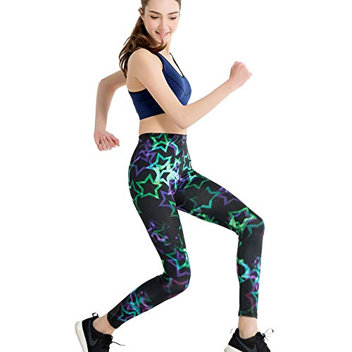 MAOYYMYJK Damen Sweatpants Gedruckt Dünne Bleistift Füße Hose Elastische Damen Yoga Leggings Yoga-Hose für Damen