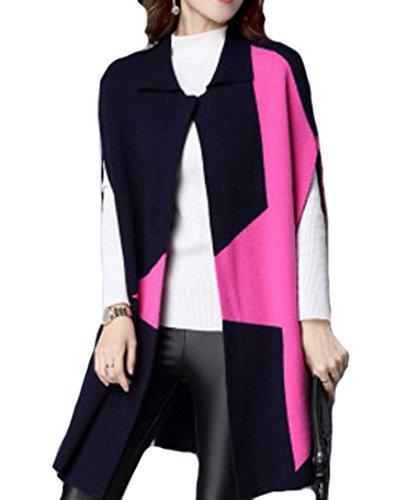PLAER - Abrigo - capa - para mujer azul oscuro