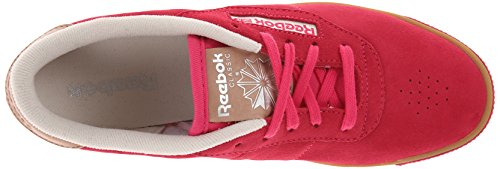 Reebok Kvinna Cl Dam Duchess Mocka Spets-up Mode Sneaker Rosa Fusion / Krita