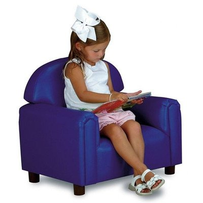 (Brand New World Preschool Premium Vinyl Upholstery Chair - Blue )