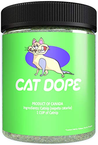 Cheap Cat Dope Catnip, Maximum Safe Blend for Cats, Infused with High Premium Potency Your Kitty is Guaranteed to Go Crazy for! (1 Cup)