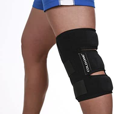 Knee Ice Pack Soft Brace + Compression Cold Therapy 360º knee Ice Wrap, 15-20 min of 32ºf Knee Icing Recommended by Ortho MDs Safe and Effective. Universal Size. Clinical Quality. USA.