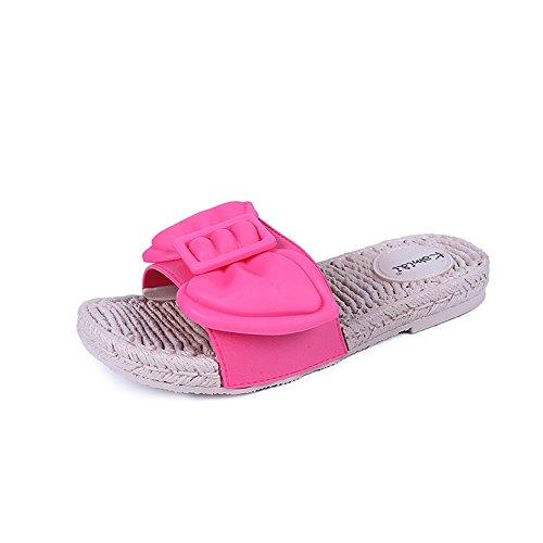 Queena Wheeler Women Sandals Women Flats Shoes Platform Female Slides Beach Flip Flops Summer Shoe Rose