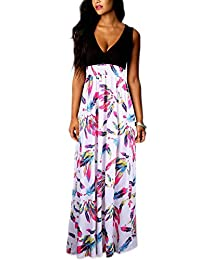 Soficy Women Boho Sleeveless Maxi Dress