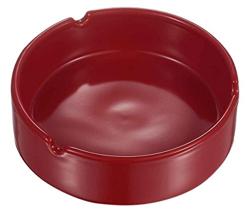 Visol San Red Ceramic Cigarette Ashtray (Red Ashtray)