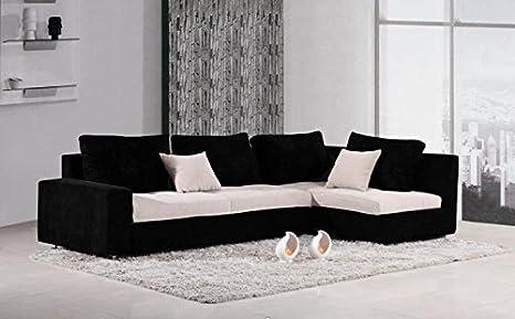 Divani Bianchi E Neri : Divano letto angolare microfibra bianco e nero amazon casa e