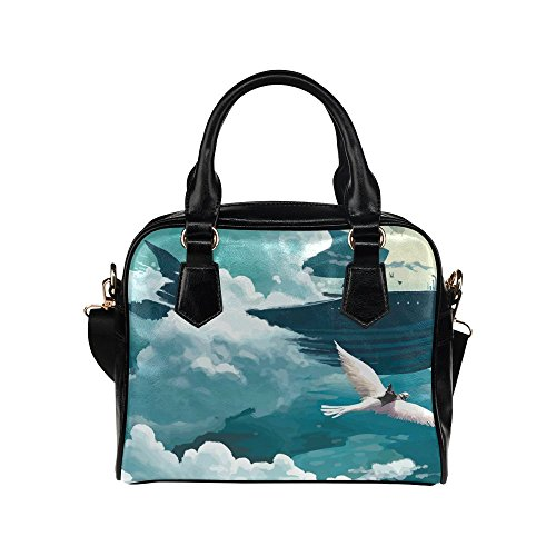 meincare Women's Flying Whale Steam PU leather Aslant Shoulder Tote Handbags (Hand Of Fate Steam compare prices)
