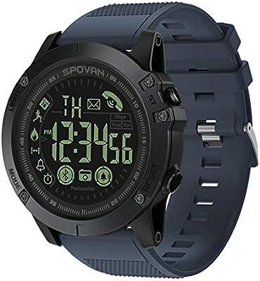 Reloj inteligente AOLVO con Bluetooth, con rastreadores de actividad y disparo remoto, digital, para deportes al aire libre, resistente al agua, 50 m, ...