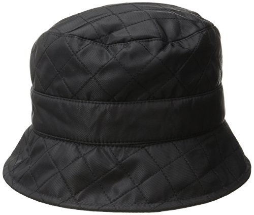 (San Diego Hat Company Women's Packable Quilted Rain Hat, Black, One Size)