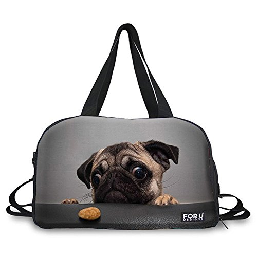 Valise Bag (Mumeson Canvas Animal Duffle Bag Sports Gym Travel Luggage Duffle Weekend Bag)