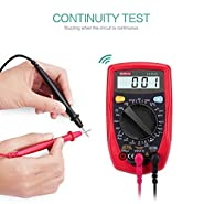 Digital Multimeter, Auto Ranging Multimeter, Clamp Meter Multimeters with AC/DC Voltage, Backlit LCD Display, Current, Resistance, Diode, 600V overvoltage, Continuity Test for Home Use Hand Tools