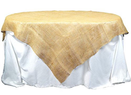 Kel-Toy Inc Burlap Table Topper/Overlay, 72