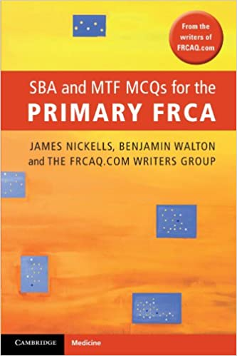 Book SBA and MTF MCQs for the Primary FRCA