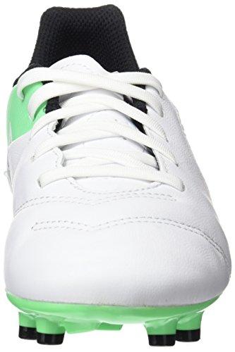 Nike Unisex-Kinder Jr Tiempo Legend VI FG Fußballschuhe Weiß (White/Black-Electro Green)