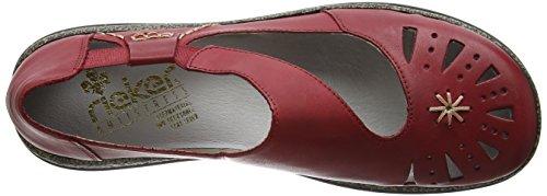 Clog on Women's 85 Slip Daisy Red Rieker xwqS1XZp