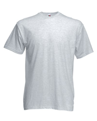 Fruit Of The Loom Valueweight T-Shirt Ash Grau 2XL