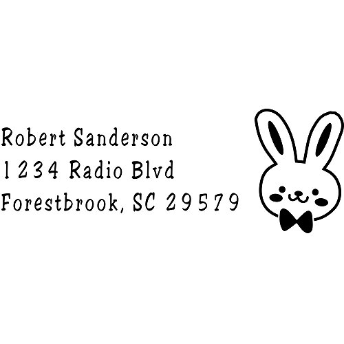 (Bunny Head Easter Address Stamp)