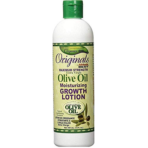 Africa s Best Originals Maximum Strength Extra Virgin Olive Oil Moisturizing Growth Lotion 12 oz Pack of 12