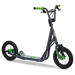 Mongoose Kid's Air Tire Scooter, Grey
