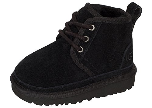 UGG Boys Neumel Chukka Boot Black Size 12 M US Little Kid (Size Kids 12 Ugg)