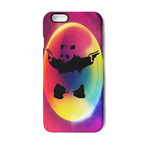 Case for Apple iphone6 Plus and iphone6s Plus Hardcore Panda Gun Shock-Absorption Bumper Cover Anti-Scratch Clear