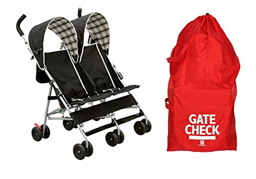 Delta Side by Side Stroller with Gate Check Bag by Delta