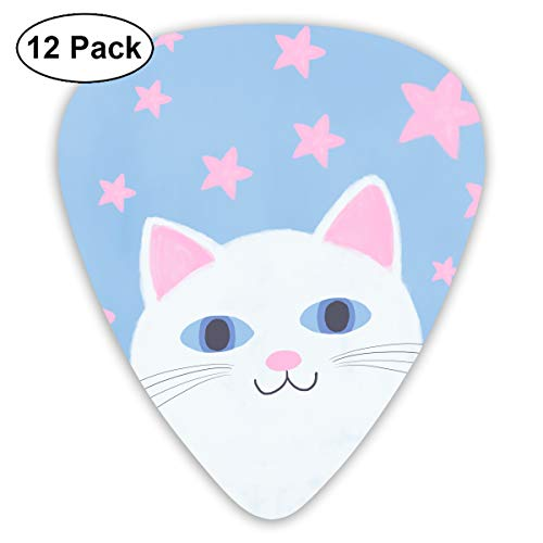 - JsMuryobao Guitar Picks Custom Cool Unique Design for Electric Acoustic Bass Ukulele Cats Make Me Happy Not So Much